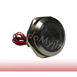 Przycisk Piezoelektryczny LED 30mm Czerwony